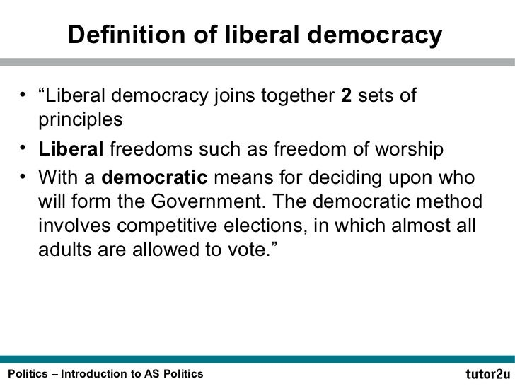Liberal democracy and Political Participation - Essay Example