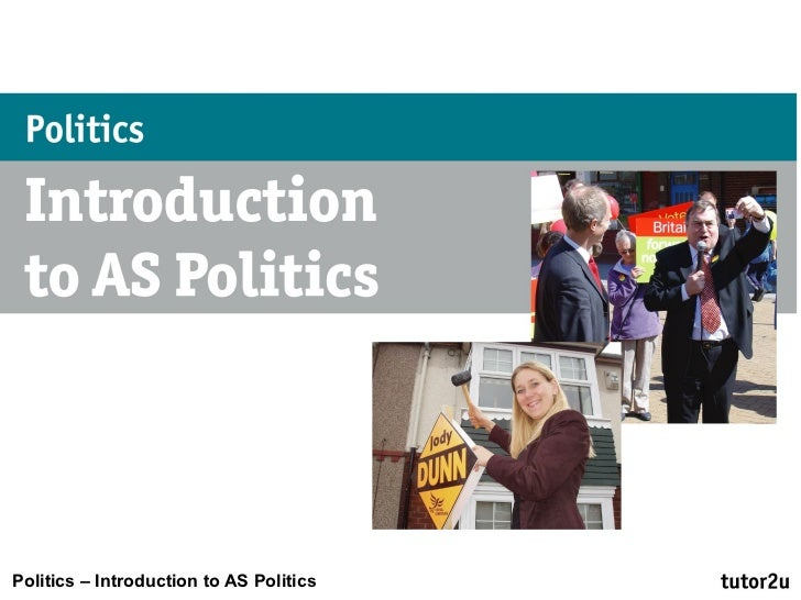 Politics – Introduction to AS Politics