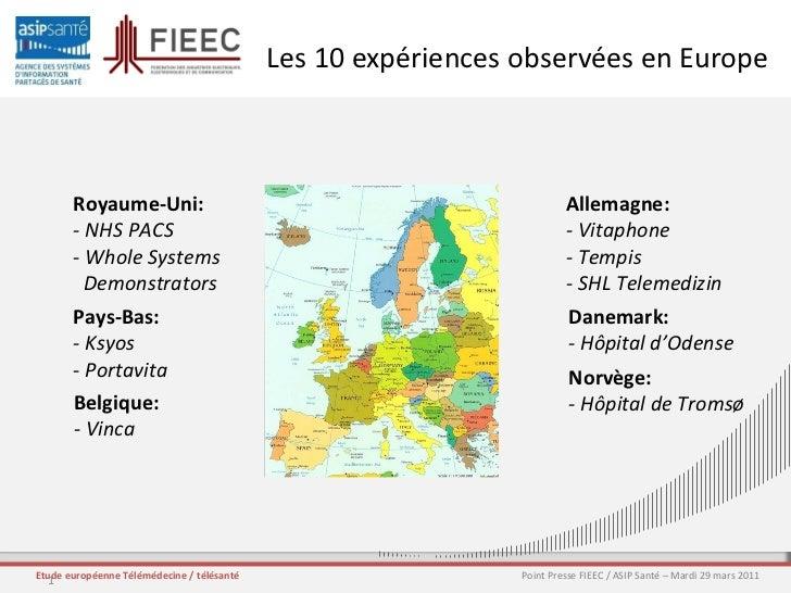 Les 10 expériences observées en Europe Royaume-Uni: - NHS PACS - Whole Systems Demonstrators Allemagne: - Vitaphone - Temp...