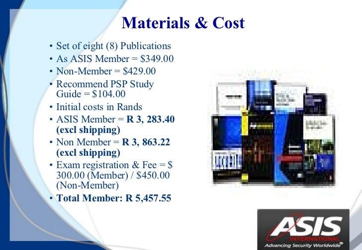 asis 155 psp presentation v1 rh slideshare net IT Security Certifications asis psp study guide free download