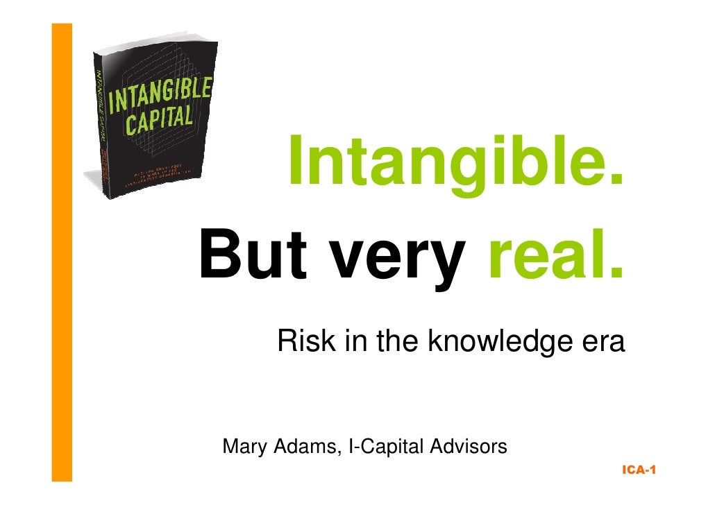 Risk in the Knowledge Era: Intangible. But Very Real
