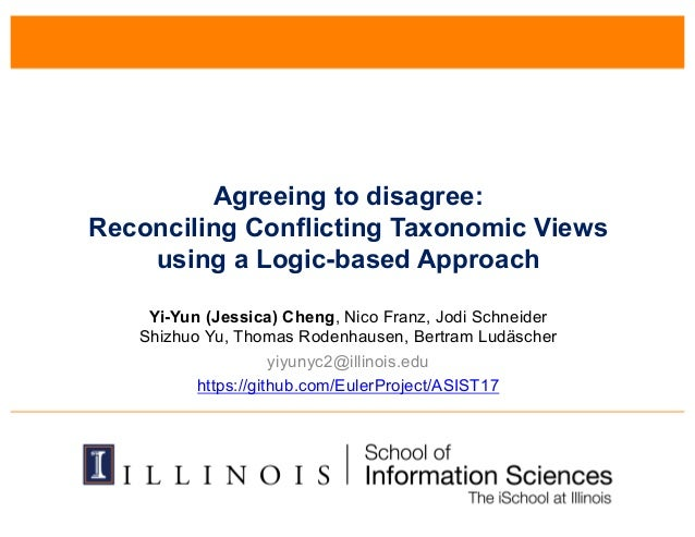 Agreeing to Disagree: Reconciling Conflicting Taxonomic