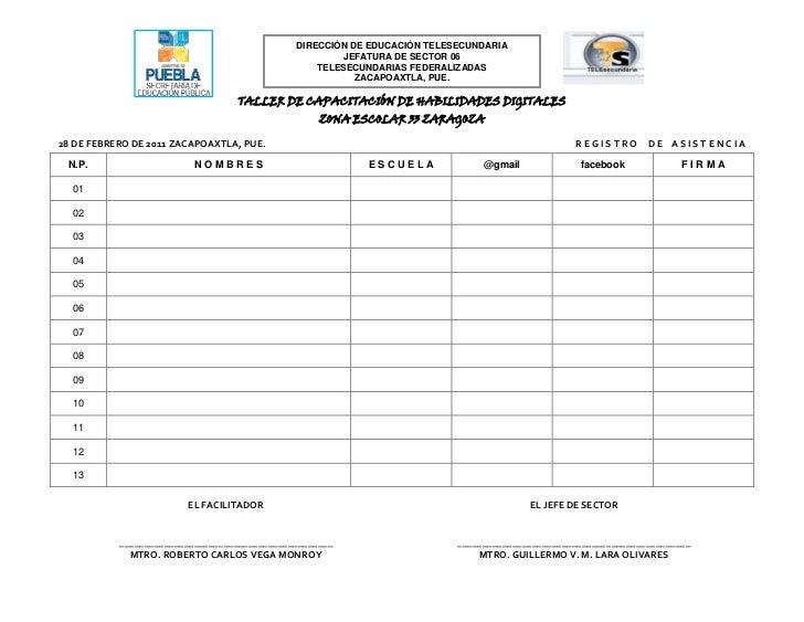 DIRECCIÓN DE EDUCACIÓN telesecundariaJEFATURA DE SECTOR 06       TELESECUNDARIAS FEDERALIZADASZACAPOAXTLA, PUE.<br />63284...