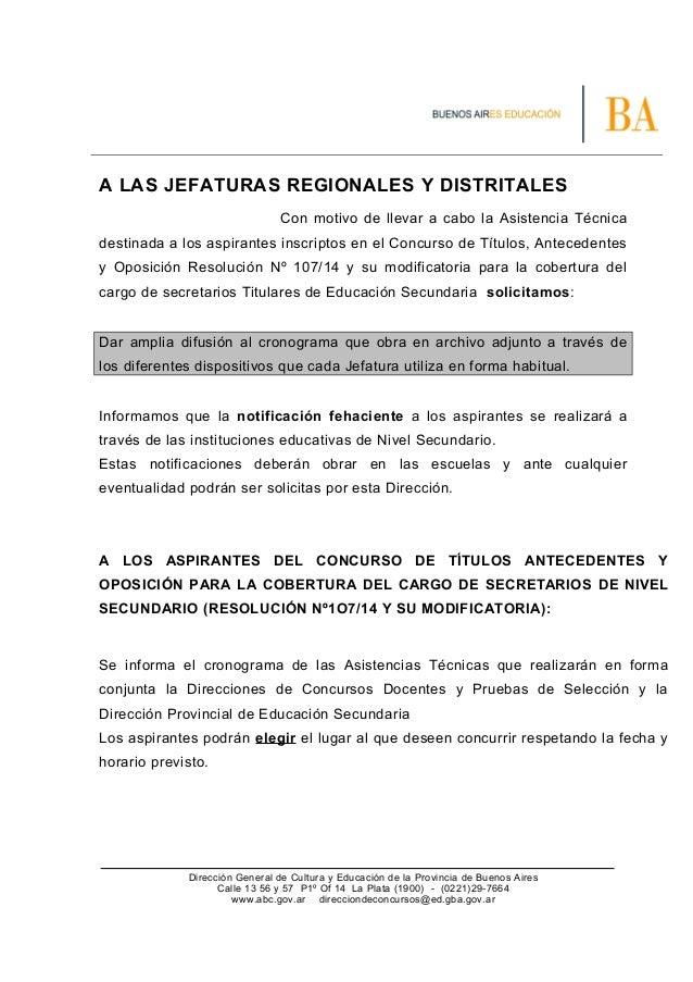 A LAS JEFATURAS REGIONALES Y DISTRITALES Con motivo de llevar a cabo la Asistencia Técnica destinada a los aspirantes insc...