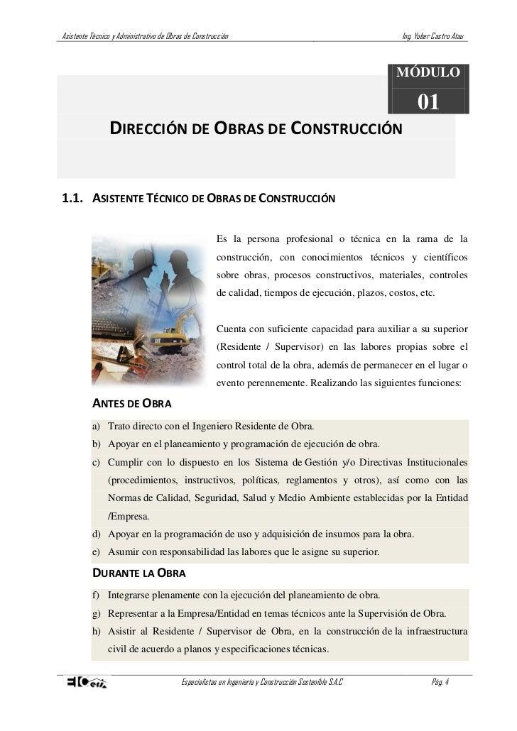 Asistente t cnico de obra de construcci n curso parte01 - Tecnico en construccion ...