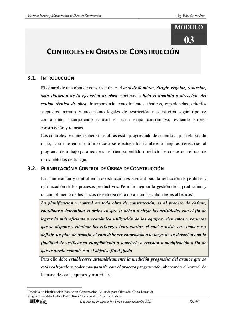 Asistente t cnico de obra de construcci n curso parte03 - Tecnico en construccion ...