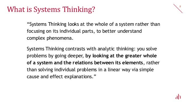 how to teach systems thinking