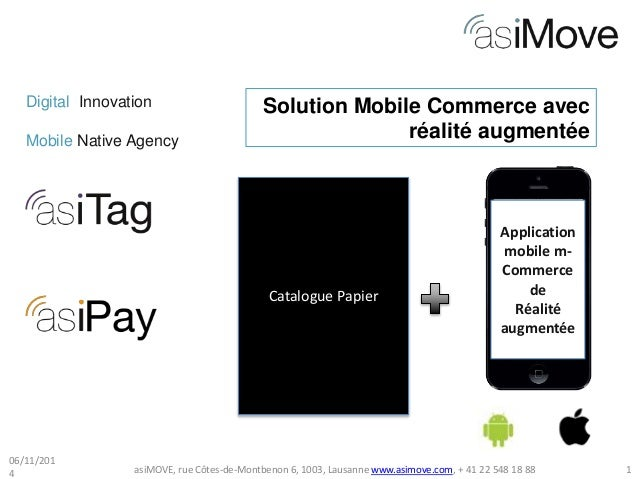 Digital Innovation  Mobile Native Agency  Solution Mobile Commerce avec  Catalogue Papier  réalité augmentée  Application ...