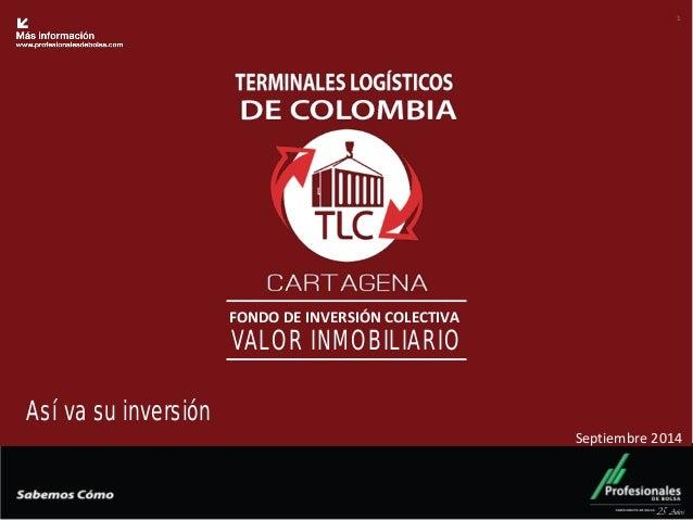 Fondo Inmobiliario  FONDO DE INVERSIÓN COLECTIVA  VALOR INMOBILIARIO  25 Años  1  Así va su inversión  Septiembre 2014
