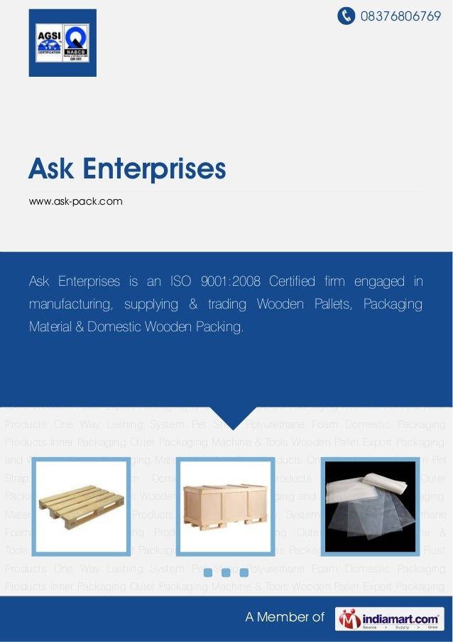 08376806769A Member ofAsk Enterpriseswww.ask-pack.comWooden Pallet Export Packaging and Wooden Boxes Packaging Material VC...
