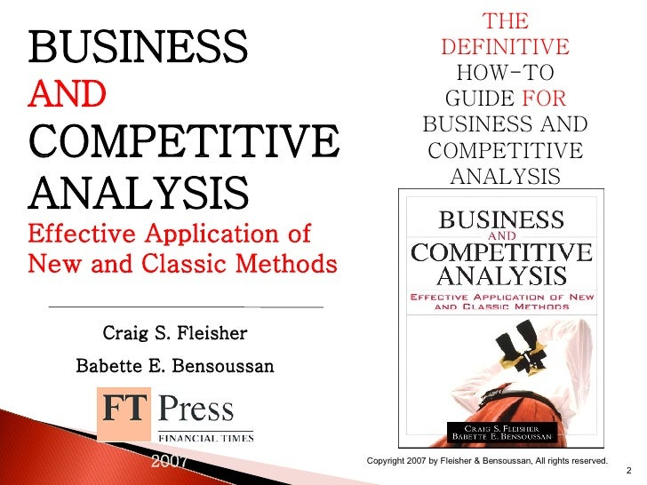 Business and Competitive Analysis: Definition, Context, and Benefits