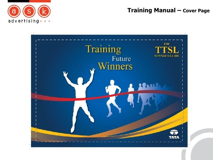 Doc400519 Training Manual Cover Page Doc400519 Training – Training Manual Cover Page