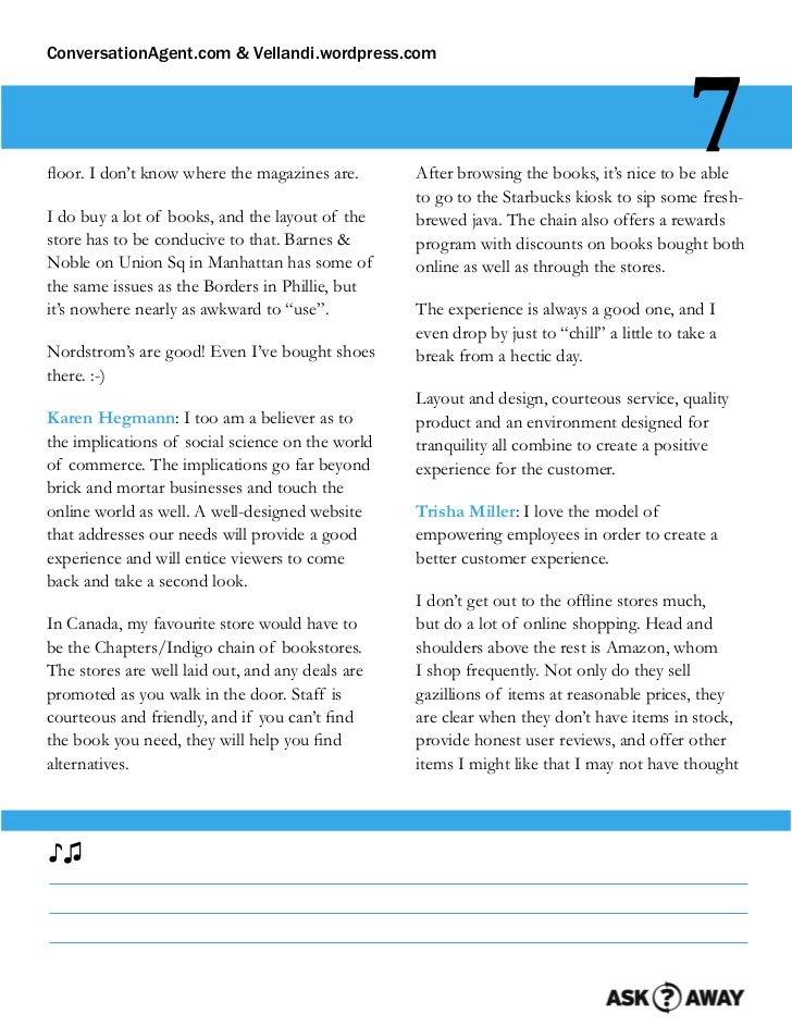 ConversationAgent.com & Vellandi.wordpress.comfloor. I don't know where the magazines are.                                 ...