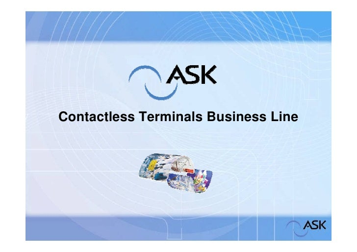 Contactless Terminals Business Line