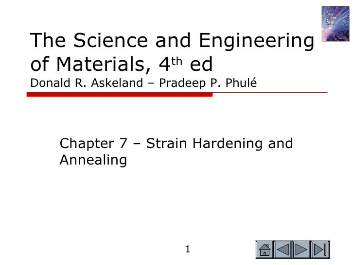 The Science and Engineering of Materials, 4 th  ed Donald R. Askeland – Pradeep P. Phulé Chapter 7 – Strain Hardening and ...