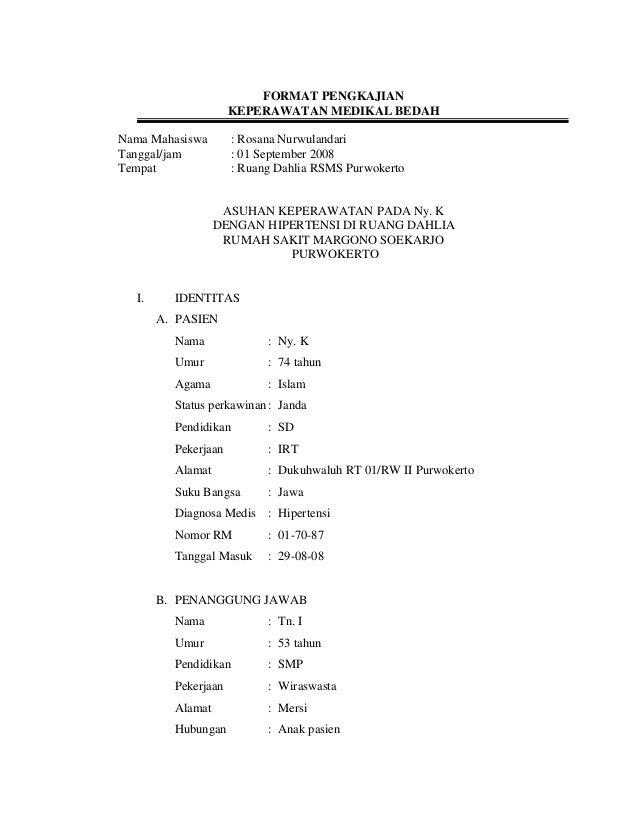 format pengkajian keperawatan - Format Resume Keperawatan Doc