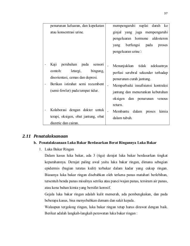 CONTOH ASUHAN KEPERAWATAN (ASKEP) LUKA BAKAR (COMBUSTIO)