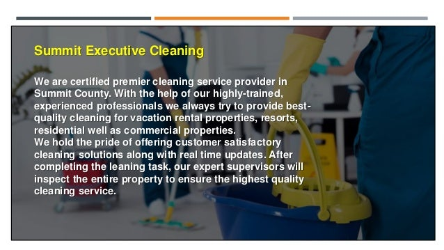 Ask Experts for Professional Cleaning Service in Summit County Slide 2