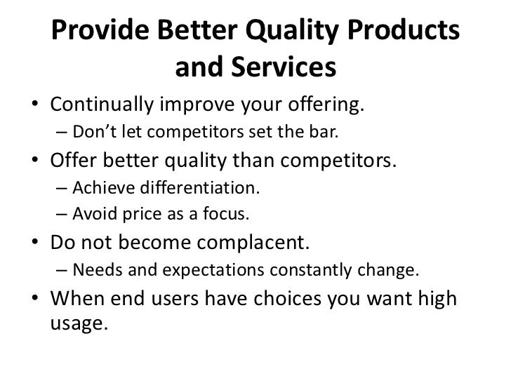 Captivating ... Mentioning Service Quality; 12.