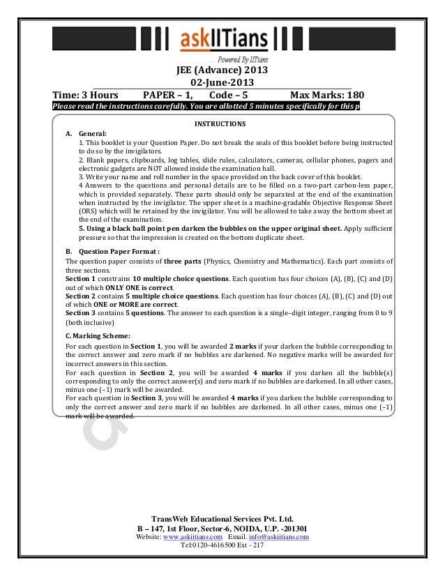 TransWeb Educational Services Pvt. Ltd.B – 147, 1st Floor, Sector-6, NOIDA, U.P. -201301Website: www.askiitians.com Email....