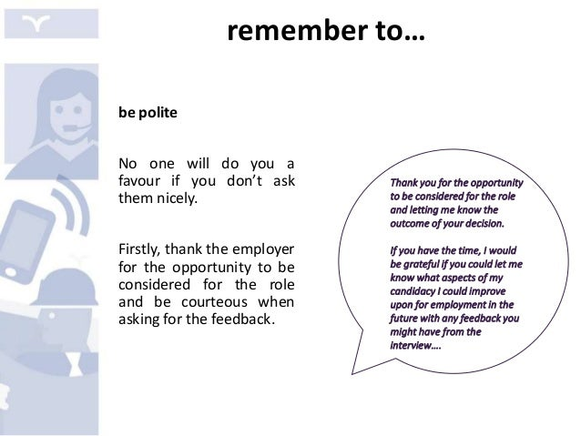 how to ask for feedback after job rejection email