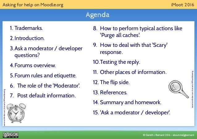 Asking for help on moodle dot org Slide 2