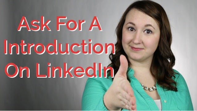How To Ask For Introduction On LinkedIn | CareerHMO