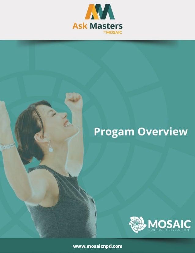 © 2013 Mosaic Nonprofit Development. All Rights Reserved. www.mosaicnpd.com