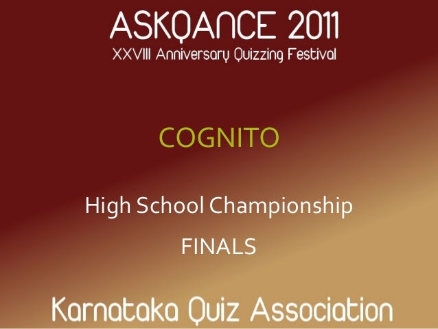 COGNITO High School Championship FINALS