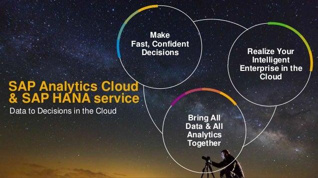 19PUBLIC© 2019 SAP SE or an SAP affiliate company. All rights reserved. ǀ SAP Analytics Cloud & SAP HANA service Bring All...