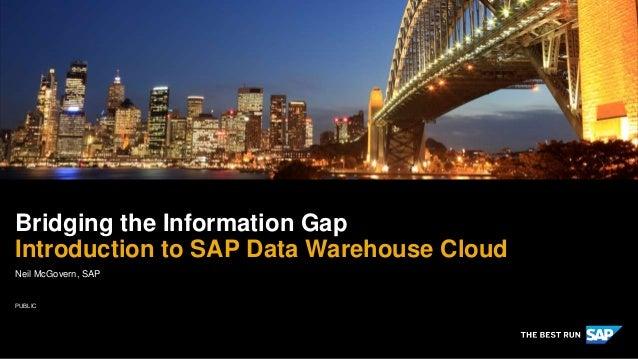 PUBLIC Neil McGovern, SAP Bridging the Information Gap Introduction to SAP Data Warehouse Cloud