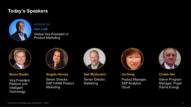 4PUBLIC© 2019 SAP SE or an SAP affiliate company. All rights reserved. ǀ Jie Deng Product Manager, SAP Analytics Cloud Nei...