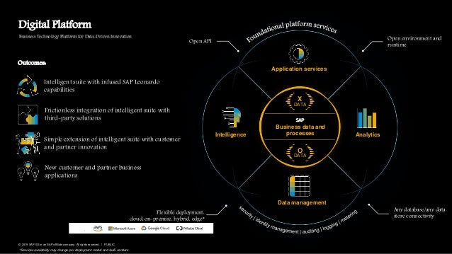 8PUBLIC© 2019 SAP SE or an SAP affiliate company. All rights reserved. ǀ Data management Open environment and runtime Busi...