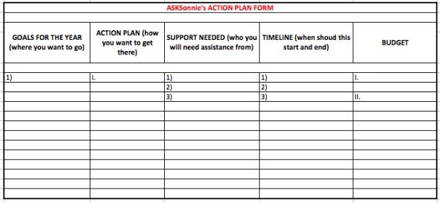 Action Plan form
