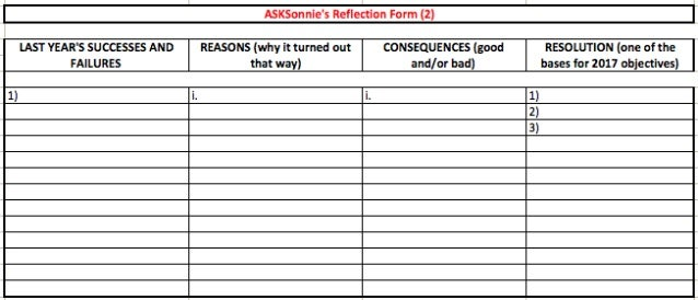 ASKSonnie's Reflection Form 2