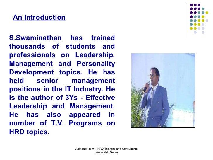 S Swaminathan - Motivational Speaker