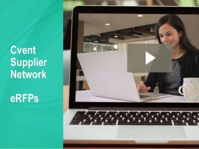 Cvent Supplier Network eRFPs