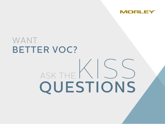 WANT BETTER VOC? ASK THEKISS QUESTIONS