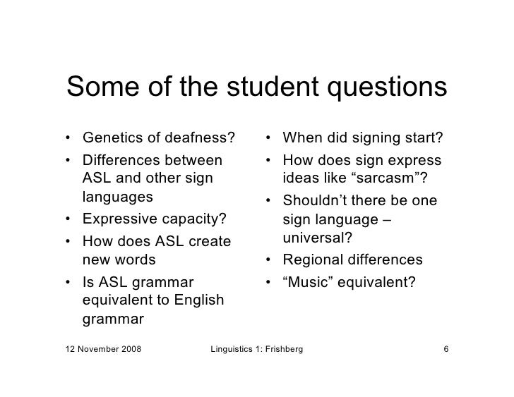 is asl a universal language