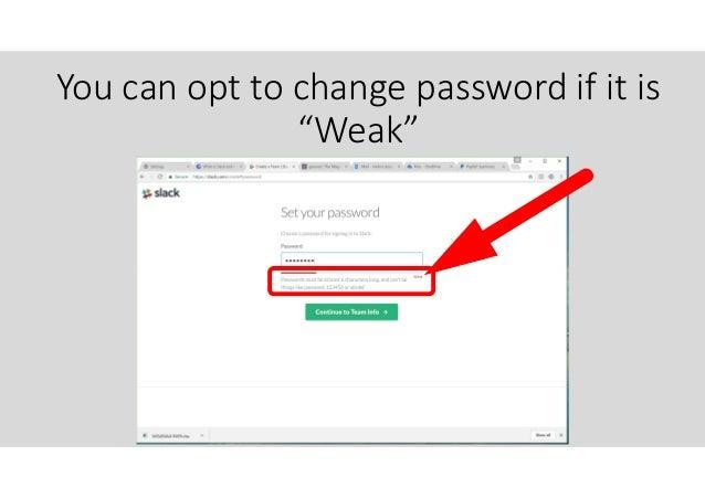 slack change password