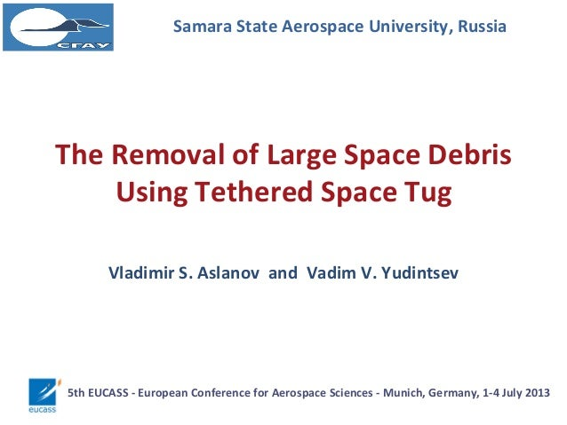 The Removal of Large Space Debris Using Tethered Space Tug Samara State Aerospace University, Russia Vladimir S. Aslanov a...