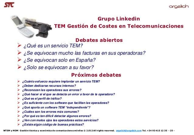 Grupo Linkedin                                          TEM Gestión de Costes en Telecomunicaciones                       ...