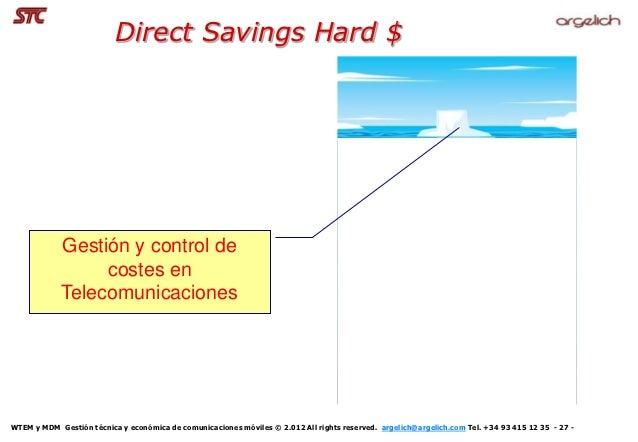 Direct Savings Hard $            Gestión y control de                 costes en            TelecomunicacionesWTEM y MDM Ge...