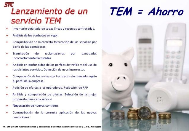 Lanzamiento de un                                                                   TEM = Ahorro      servicio TEM       ...
