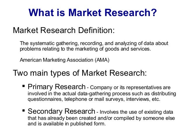 Types of Market Research and Their Differences