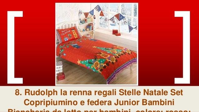 Copripiumino Renne.Natale Renna Set Copripiumino Rosso Junior 4 In 1 Letto Singolo E