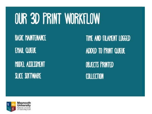 3d printing in Maynooth University Library: breaking the 3rd dimension