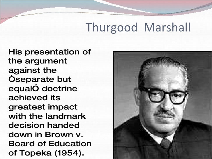 african americans and their achievements thurgood marshall