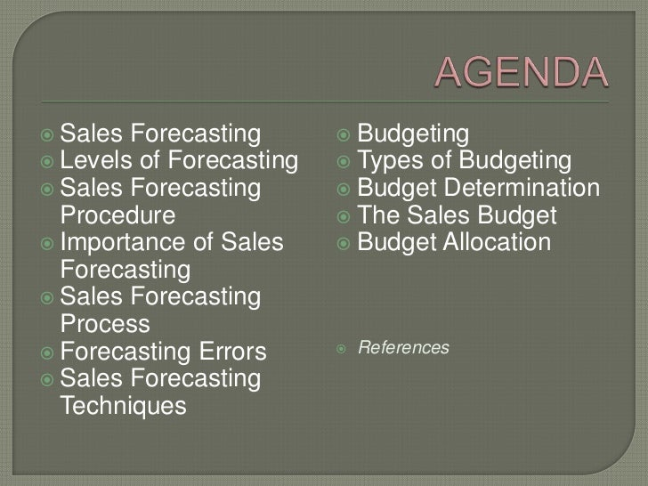 the importance of the sales budget -just as important as for profit-oriented company-budget process differs from profit-oriented company-budget on the basis of cash flows (expenditures and receipts), not on a revenue and expense basis-starting point is usually expenditures, not receipts-management's task is to find receipts needed to support planned expenditures.