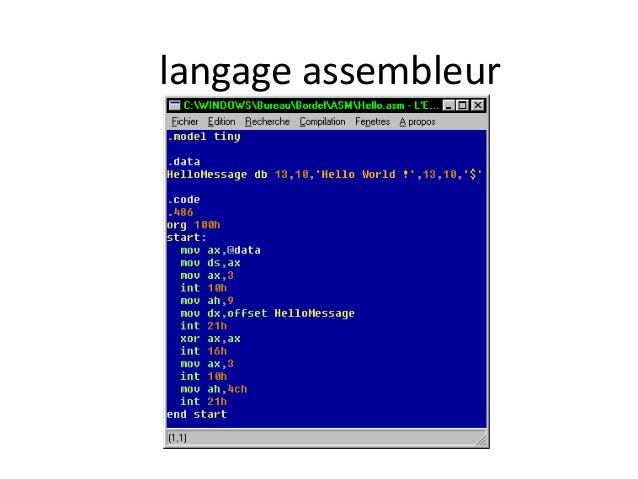 langage assembleur